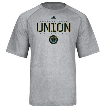 adidas Philadelphia Union Gray Training ClimaLITE T-Shirt