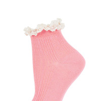 Pink Lace Trim Ankle Socks - View All - New In This Week - New In - Topshop
