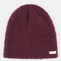Neff Grams Beanie Burgundy One Size For Women 26396532001
