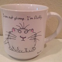 Sandra Boynton Mug I'M NOT PLUMP I'M FLUFFY Recycled Paper Products Cup CAT