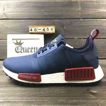 Adidas Women Fashion Trending Running Sports NMD Shoes Navy blue