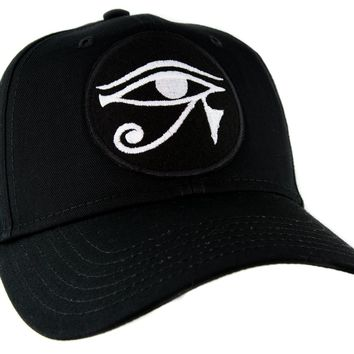 White Egyptian God Eye of Ra Horus Baseball Cap Hat Occult
