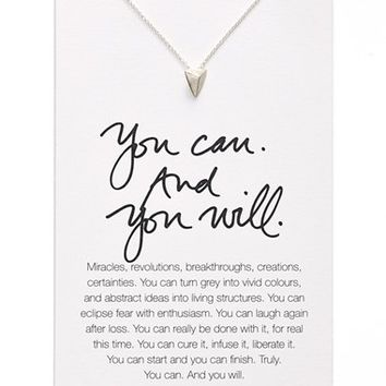 Women's Dogeared 'Danielle LaPorte Truthbombs - You Can and You Will' Necklace
