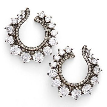 Nadri Crystal Front Hoop Earrings | Nordstrom