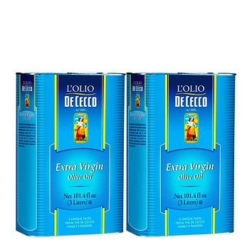 2 Pack De Cecco 3L Extra Virgin Olive Oil, Bulk Tin (101 fl oz) Free Shipping