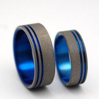 To The Future II - Titanium Sandblasted Commitment Ring Set