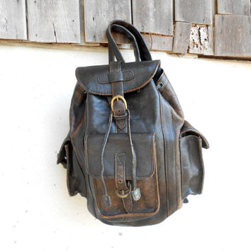 Best Distressed Leather Backpack Products on Wanelo