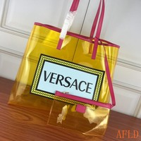 HCXX 19Sep 455 Versace DBFG483 Casual Large Capacity Tote Bag PVC Transparent Fashion Shopper 43-20-35cm