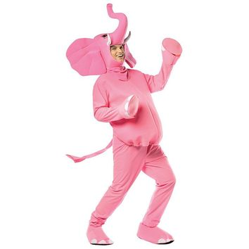 Pink Elephant Costume - Adult (Blue)