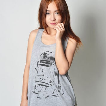 R2D2 Shirts Star Wars Shirt Tank Top Tunic Neon Shirt Tshirt T Shirt