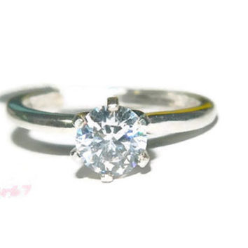 1 Carat Promise Ring, Engagement Ring, Purity Ring, Sterling Silver