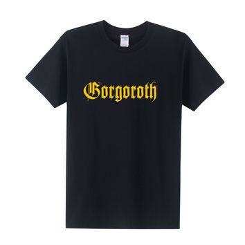 NEW fASHION GORGOROTH T-Shirts Men Rock Band Thrash Black DEATH HEAVY METAL PUNK POP Twilight of the Idols T shirt