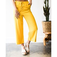 Yellow Submarine Lace Up Pants