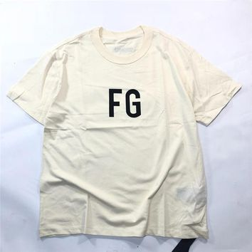 19SS FEAR OF GOD 6TH INSIDE OUT FG Letter Printed T-shirt Casual FOG GSummer Breathable Short Sleeve Hip Hop Street Skateboard Tee