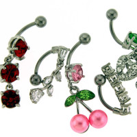 Assortment-A21 of 5 Belly Rings - Limited 1 per Order per Day.