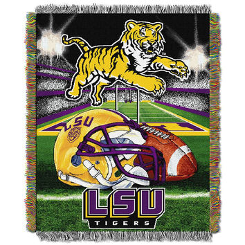 Louisiana State Tigers (LSU) NCAA Woven Tapestry Throw (Home Field Advantage) (48x60)