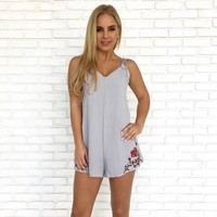 Calm Before the Storm Embroider Romper
