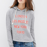 Heathered Cities Graphic Hoodie