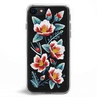 Camellia Embroidered iPhone 7/8 Case