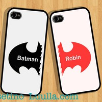 Phone 5 Case , Batman & Robin Case , Couple Plastic hard case , love,Valentine
