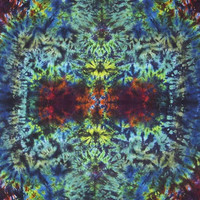 Hippie Tie Dye Tapestry - Trip Unknown on a Dark Blotter Night - Tiedye Wall Hanging