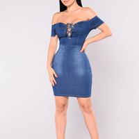 Sonia Denim Dress - Dark