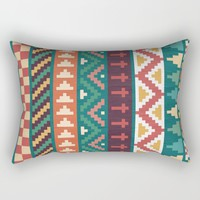 Southwestern Pattern Rectangular Pillow by Noonday Design | Society6