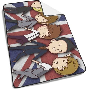 cute One Direction Cartoon Blanket