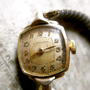 Vintage 1940s Wittnauer Gold Swiss Ladies Wristwatch // Repurpose // Repair // JackpotJen