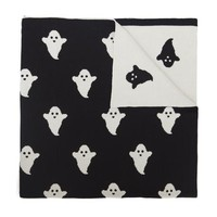 Woouf . Knitted Blanket . Ghosts / Black & White
