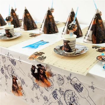 Disney Pirates of the Caribbean Jack Kids Birthday Party Decoration Set Party Supplies cup plate banner hat straw loot bag fork