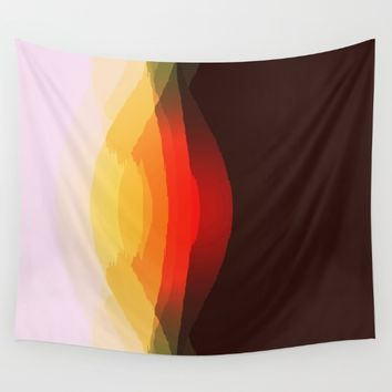 Warm Abstract Wall Tapestry by SimplyChic