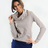 ALIF Cowl Neck Sweatshirt in Organic Cotton - Lightweight