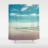 The swimmer Shower Curtain by vanessagf