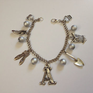 Pretty Little Liars Charm Bracelet Silver, pretty little liars bracelet, pll
