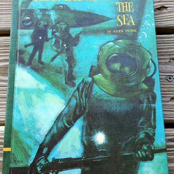 1968 20,000 Leagues Under The Sea By Jules Verne, Educator Classic Library Volume 2, Hardcover 20,000 Leagues Under The Sea, Vintage Book