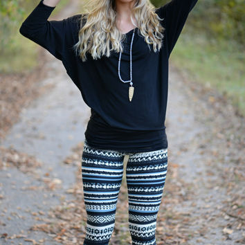 Great Escapes Printed Stretch Leggings