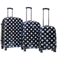 Montego Bay ABS Hardcase 3 Piece 4 Wheels Luggage Set