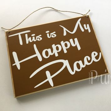 10x8 This is My Happy Place Wood Sign