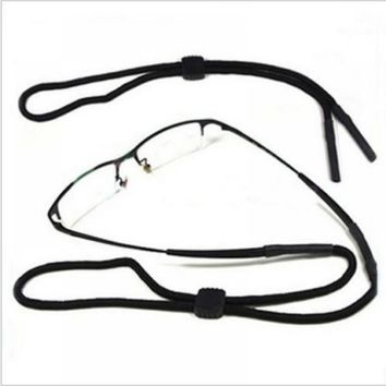 1 PC NEW Adjustable Sunglasses Neck Black Nylon Cord Strap Eyeglass Glasses String Lanyard Holder