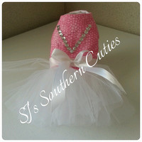 Pretty Pink Dog Tutu Dress