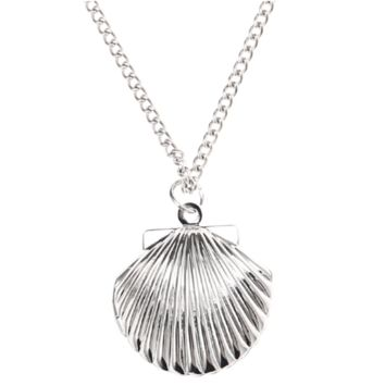 ON SALE - Shiny Seashell Locket Necklace