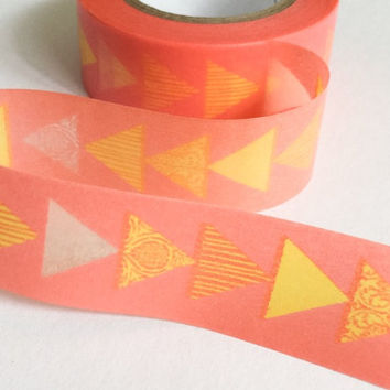 Washi Tape | Japan Adhesive Tape | Decorative Sticky Masking Tape | Scrapbooking Tools Favor Stationery | Triangle 10m J14
