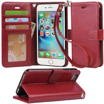 Iphone 6s Case, iphone 6 case, Arae Apple Iphone 6 / 6s [Wrist Strap] Flip Folio