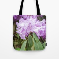 Purple Rhododendron Tote Bag by Errne