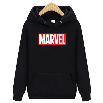 New Brand Cartoon MARVEL Sweatshirt Men Hoodies Fashion Solid Fleece Hoodie Mens Pullover Men's Tracksuits Moleton Masculino