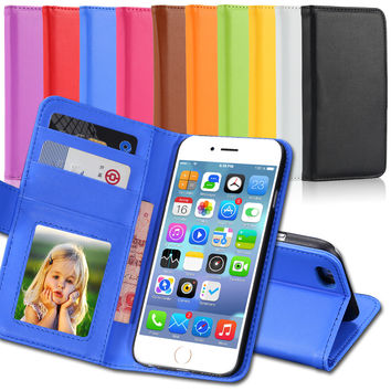 iPhone 6 Cases Fashion Wallet Flip PU Leather Case for Apple iPhone 6 6s 4.7 Plus 5.5 With Card Slot Photo Frame Stand Cover