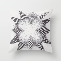 Explosions and Tangles Throw Pillow by Sarah Hinds | Society6