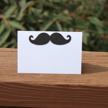 Mustache Place Cards