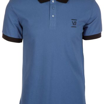 VERSACE JEANS MEN'S SHORT SLEEVE T-SHIRT POLO COLLAR NEW BLUE 5AA